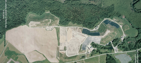 aerial photo of coventry landfill